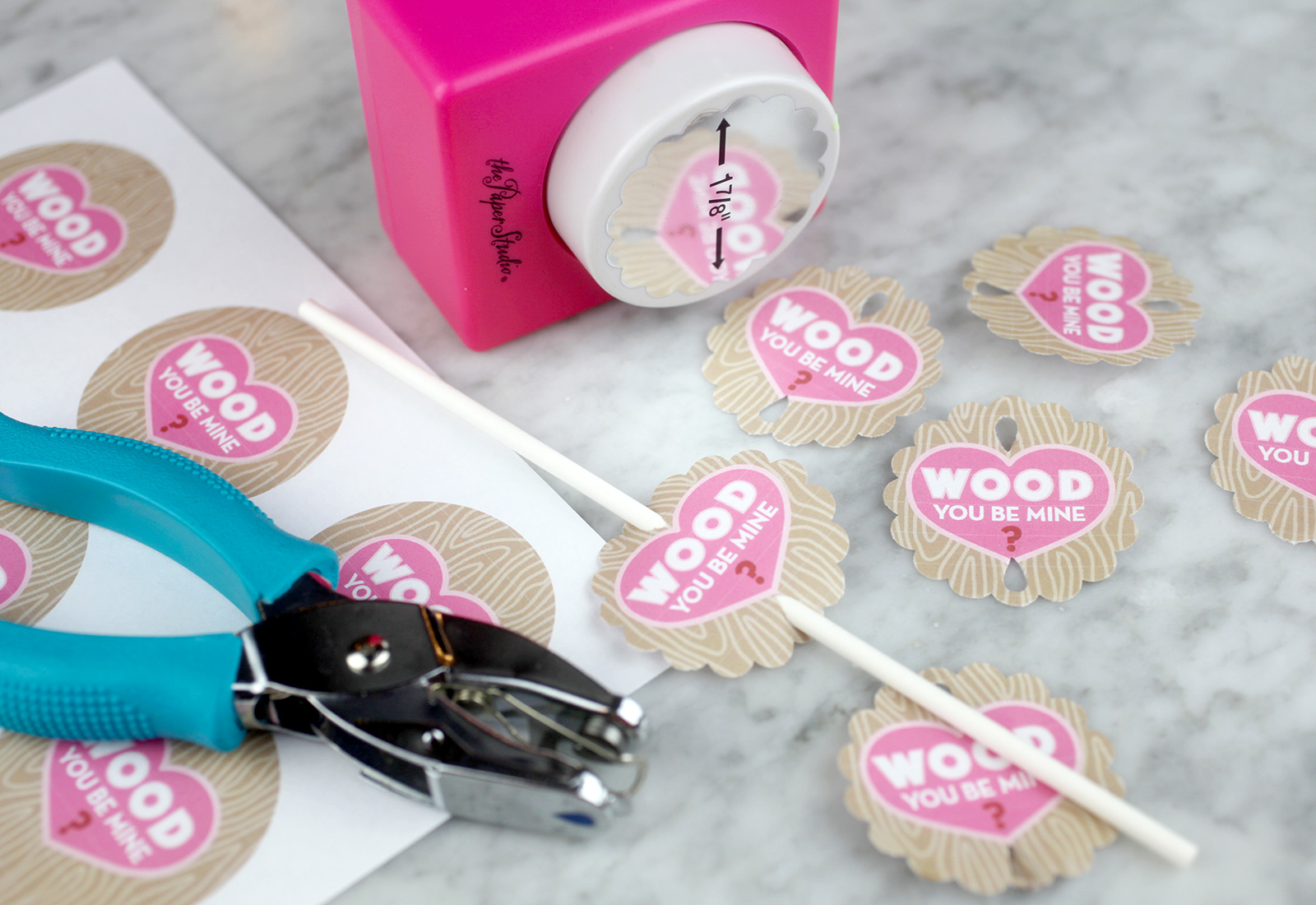 Wood you be mine? Treat tags