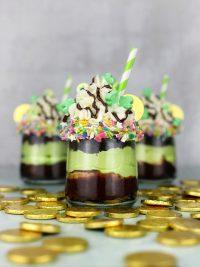 Shamrock Shake Cakes