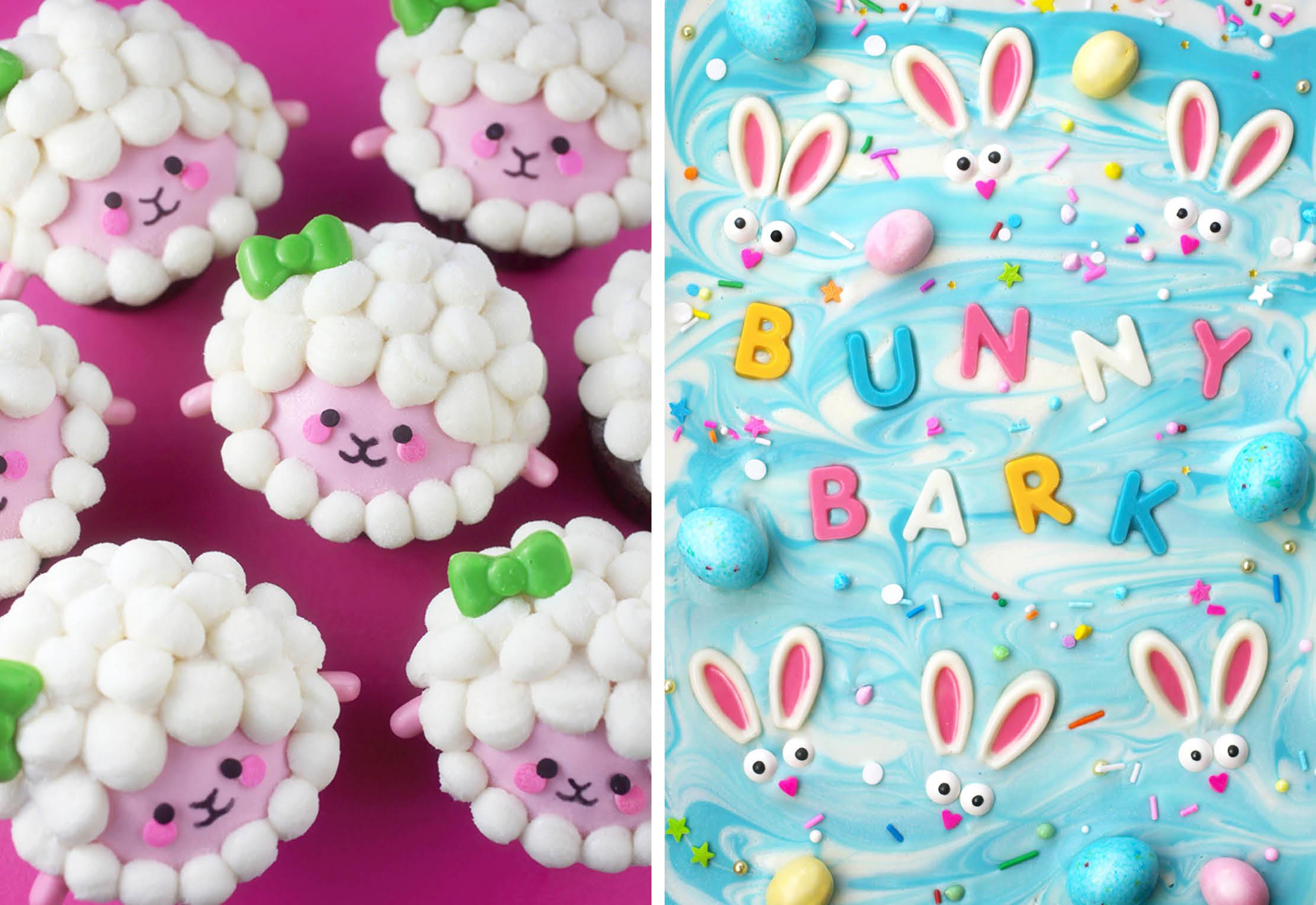 Lamb Cupcakes and Bunny Bark