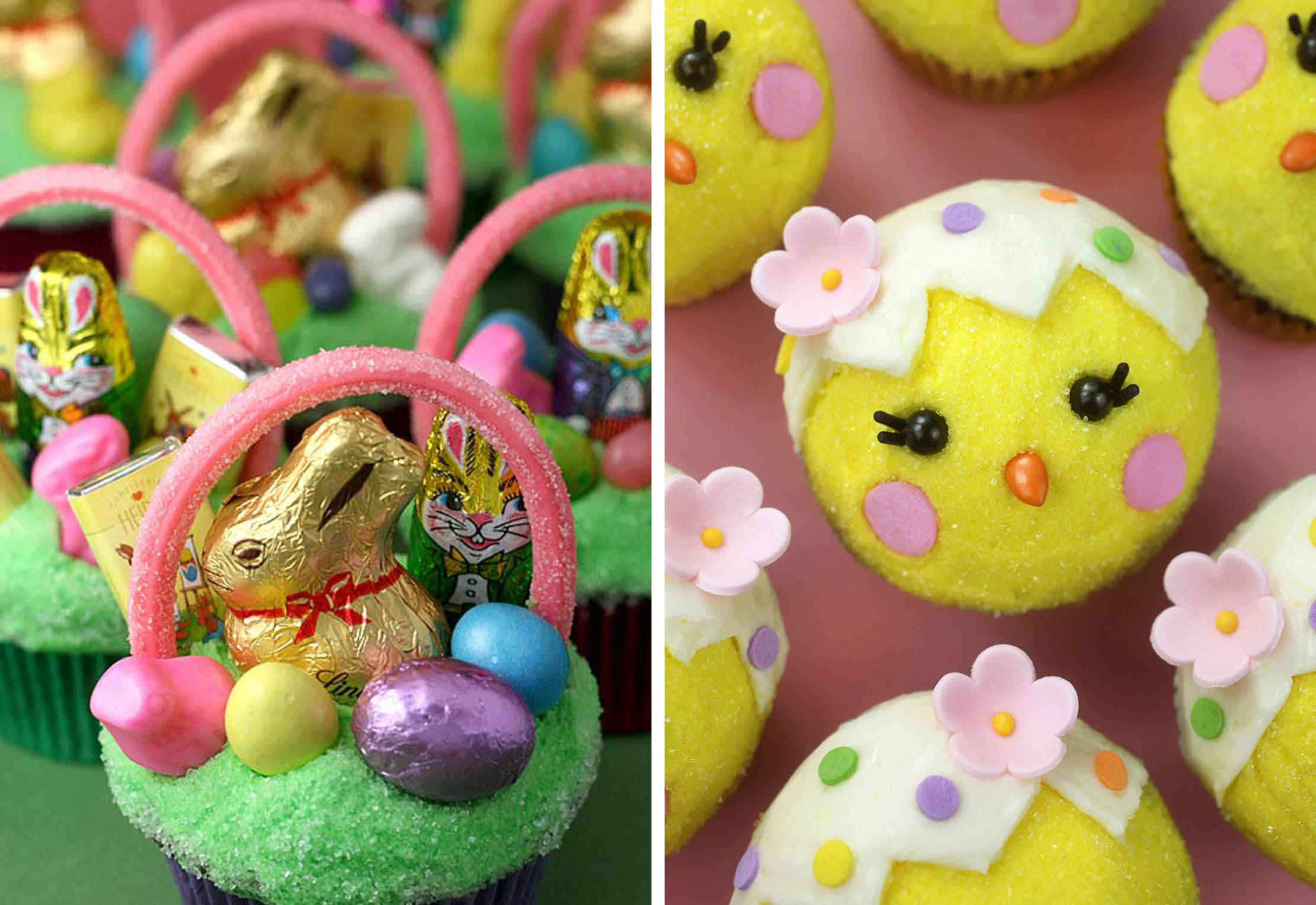 Easter Cupcakes and Chick Cupcakes