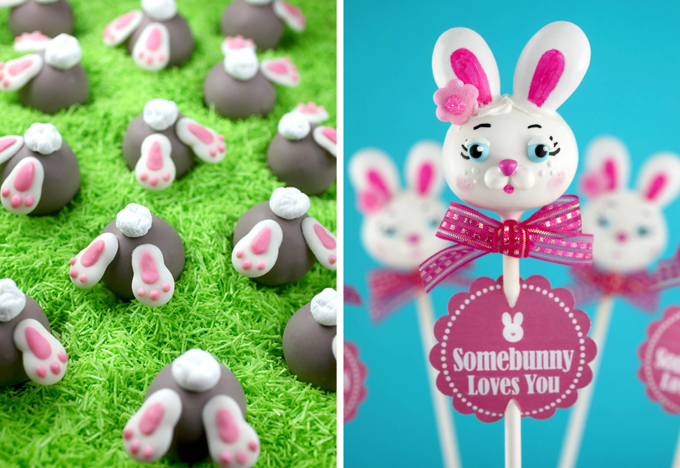 Bunny Bum Bons and Bunny Cake Pops