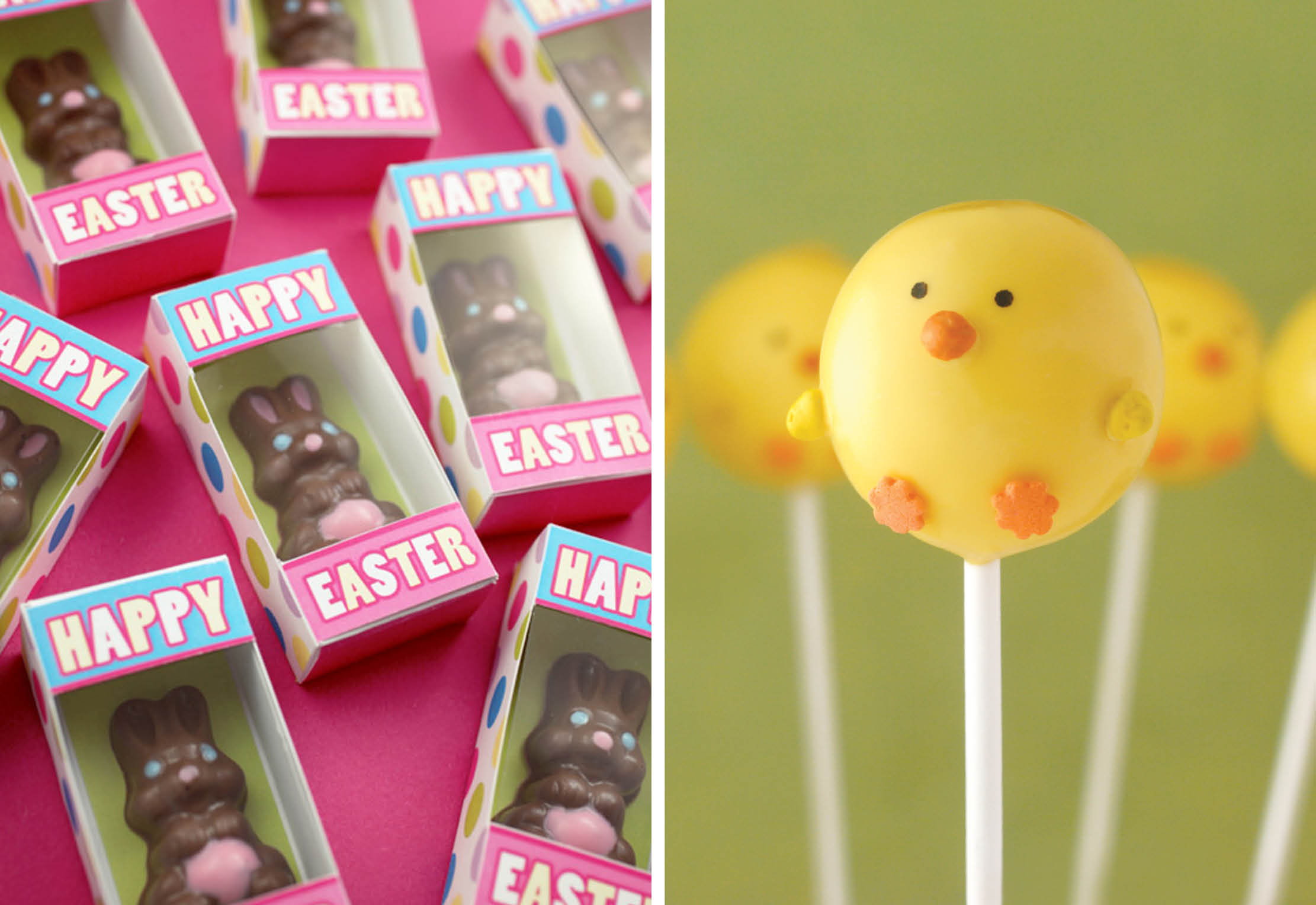 Bunny Boxes and Chick Cake Pops