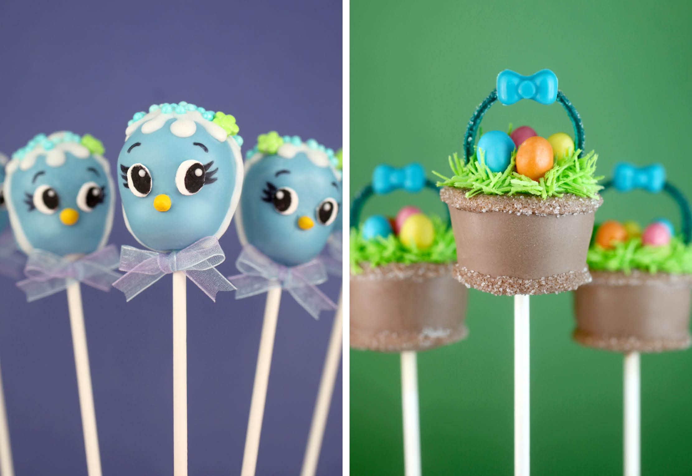 Bluebird Cake Pops and Easter Basket Cake Pops