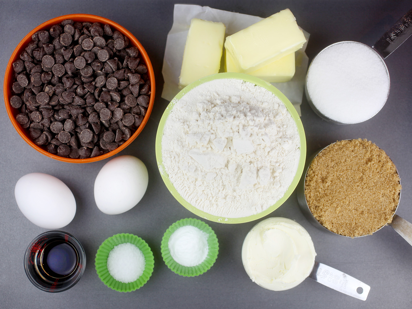 Cream Cheese Chocolate Chip Cookie Ingredients