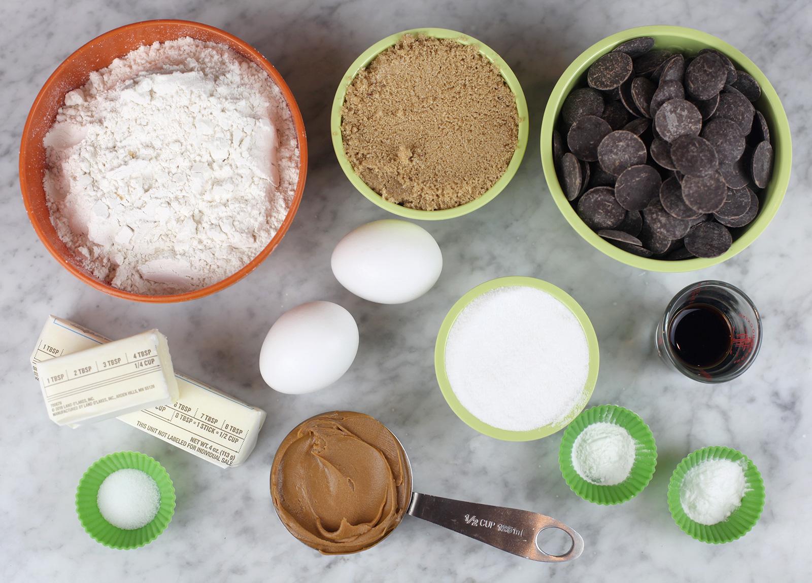 Biscoff Chocolate Chip Cookie Ingredients